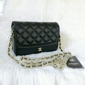 Limited Chanel Flap Gold Chain Cross body bag